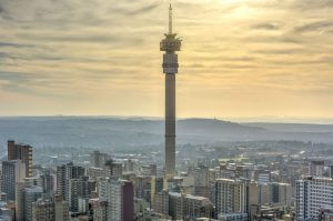 45579053 - the hillbrow tower (jg strijdom tower) is a tall tower located in the suburb of hillbrow in johannesburg, south africa.
